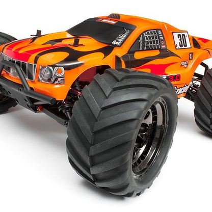 Remote controlled orange car